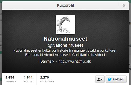 Nationalmuseet på Twitter