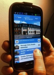 Die Webseite der Klassikstiftung Weimar bietet als eine von wenigen in Thüringen auch eine gut leserliche Version für Smartphones (Foto: Marlene Hofmann)