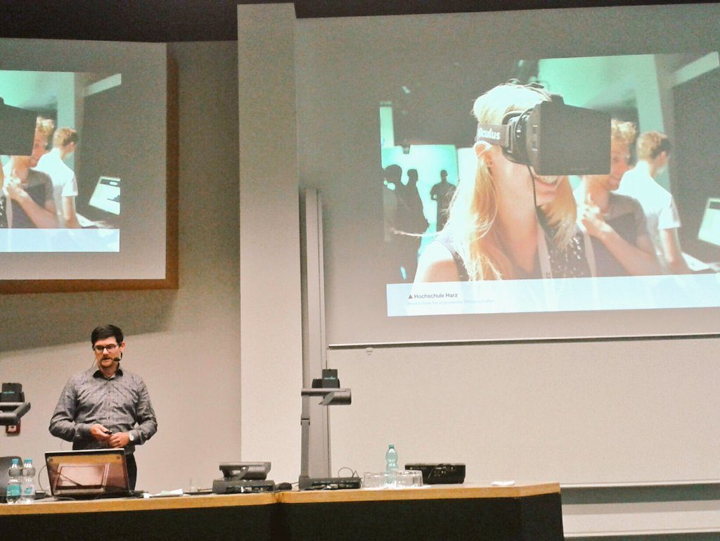 Daniel Ackermann über die Möglichkeiten von Virtual und Augumented Reality auf der Museumstagung 2017 des Museumsverbands Sachsen-Anhalt.