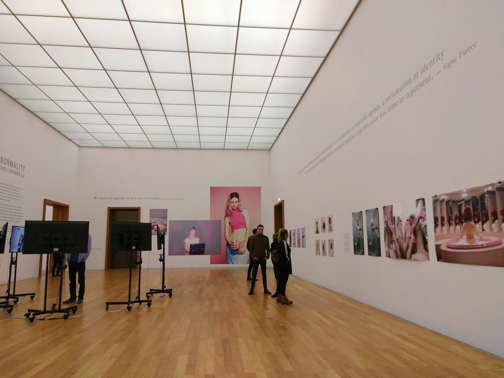 """Die Ausstellung """"Digital Normality"""", 2018 im Museum der bildenden Künste Leipzig, präsentierte digitale Kunst - und sprach damit tatsächlich verstärkt ein jüngeres Publikum an."""