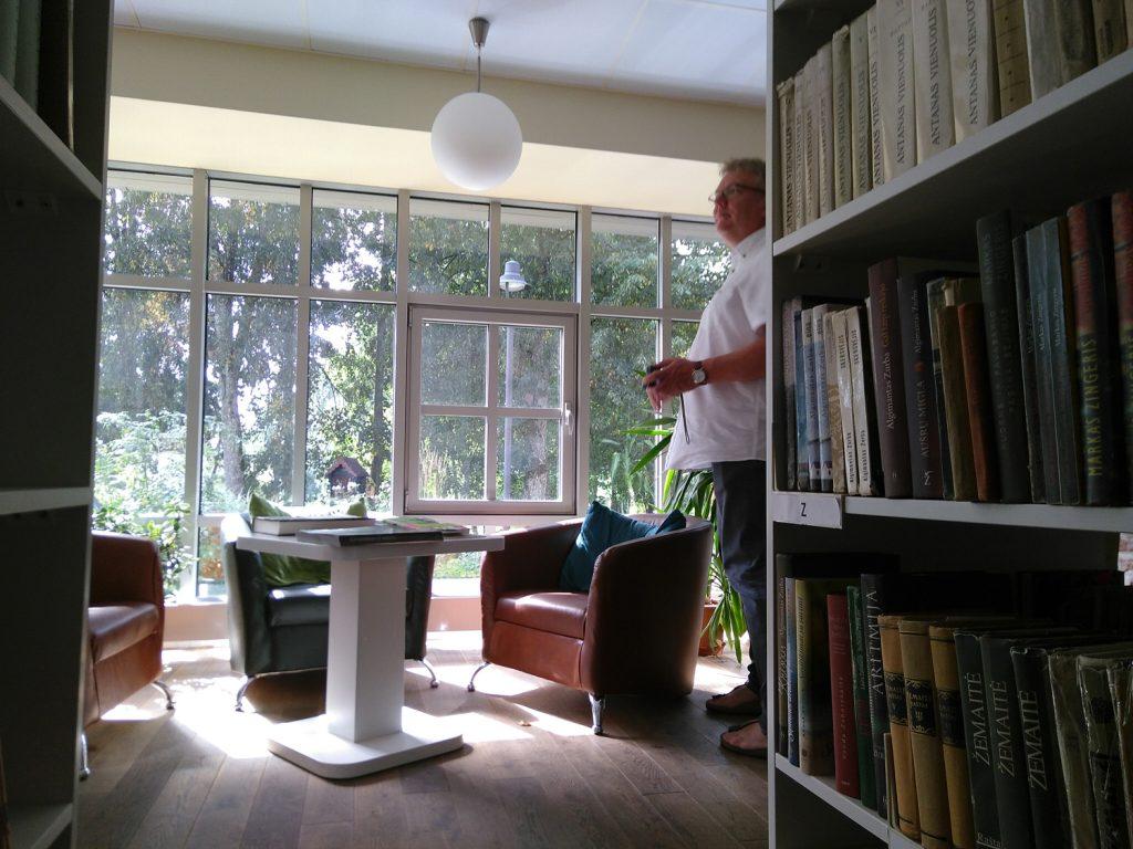 Die ehemalige Orangerie der Bibliothek in Plunge, Lithauen, soll per Virtual Reality wieder erlebbar werden.