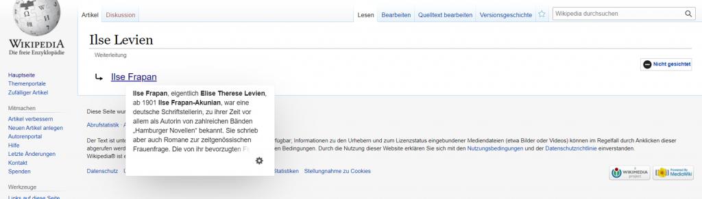 Wikipedia-Weiterleitungsseite