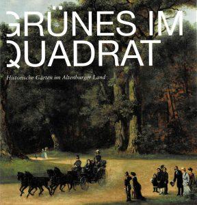 """Buchcover """"Grünes im Quadrat - Historische Gärten im Altenburger Land"""""""