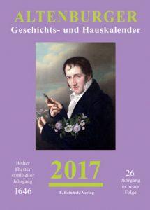 Cover Altenburger Geschichts- und Hauskalender 2017