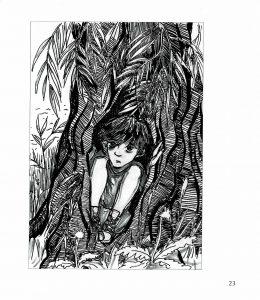 """Illustration """"In der Rindenhaut"""" von Marlene Hofmann"""