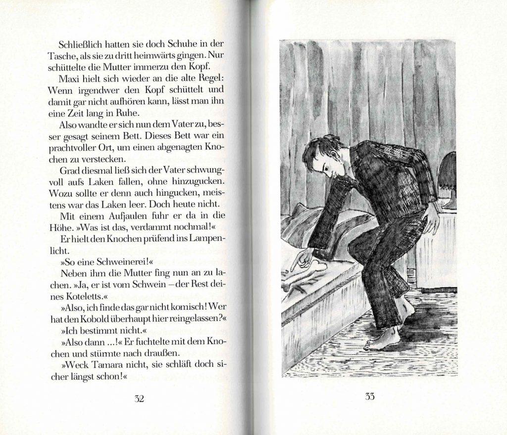 """Kinderbuch """"Maxi mit dem Koboldherz"""" - Illustration von Marlene Hofmann"""